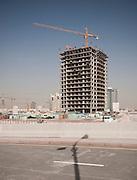 Construction site in Sports City, Dubai, UAE on February 10, 2010 Archive of images of Dubai by Dubai photographer Siddharth Siva