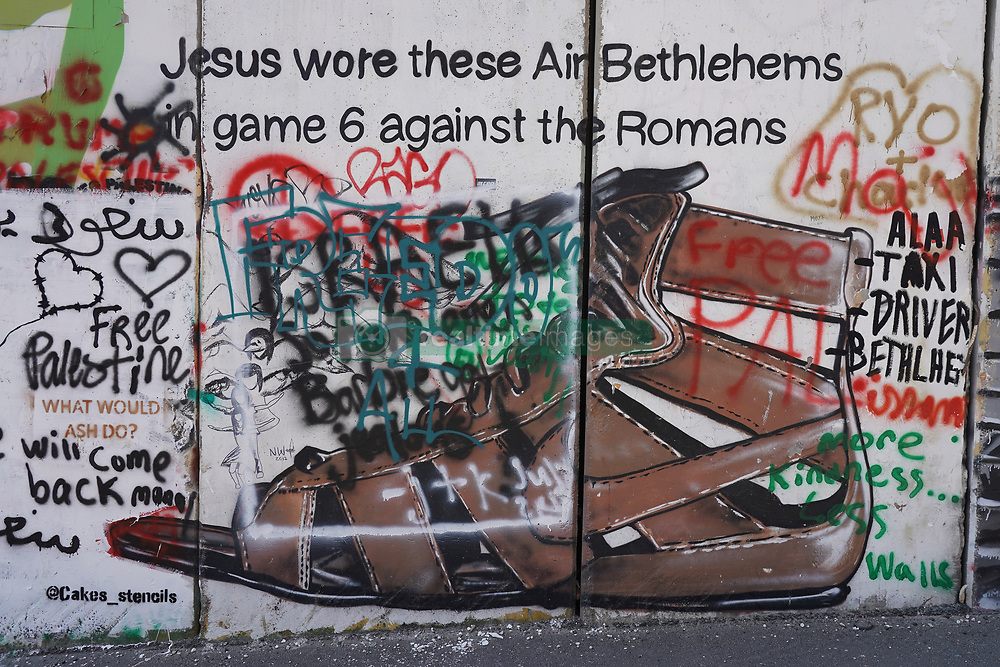 Graffiti on the wall of separation in Bethlehem. From a series of travel photos taken in Jerusalem and nearby areas. Photo date: Wednesday, August 1, 2018. Photo credit should read: Richard Gray/EMPICS