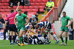 Bristol Rugby's Olly Robinson scores a try - Photo mandatory by-line: Dougie Allward/JMP - Mobile: 07966 386802 - 12/10/2014 - SPORT - Rugby - Bristol - Ashton Gate - Bristol Rugby v Connacht Eagles - B&I Cup