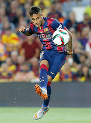 30.05.2015, Camp Nou, Barcelona, ESP, Copa del Rey, Athletic Club Bilbao vs FC Barcelona, Finale, im Bild FC Barcelona's Neymar Santos Jr // during the final match of spanish king's cup between Athletic Club Bilbao and Barcelona FC at Camp Nou in Barcelona, Spain on 2015/05/30. EXPA Pictures &copy; 2015, PhotoCredit: EXPA/ Alterphotos/ Acero<br /> <br /> *****ATTENTION - OUT of ESP, SUI*****