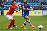 Gillingham forward Brennan Dickinson during the Sky Bet League 1 match between Gillingham and Coventry City at the MEMS Priestfield Stadium, Gillingham, England on 2 April 2016. Photo by Martin Cole.