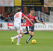 Dundee&rsquo;s Thomas Konrad and Ross County&rsquo;s Jackson Irvine - Dundee v Ross County - Ladbrokes Premiership at Dens Park<br /> <br />  <br />  - &copy; David Young - www.davidyoungphoto.co.uk - email: davidyoungphoto@gmail.com