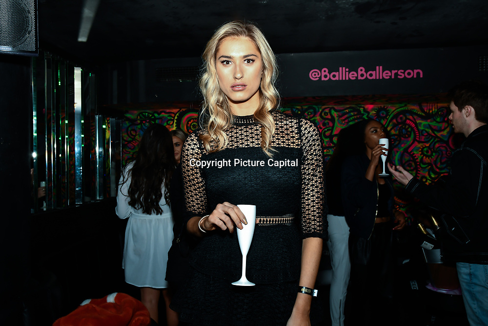 Lilly Douse attend Bachelor girls wrap party after Channel 5 serial of The Bachelor girls 2019 UK  17 desperate female complete to win Alex Marks. Five Eliminated girls continues enjoy the single life party at Balle Ballerson in fact, in the UK there are 1.1 millions female more than male on 27 March 2019, London, UK.