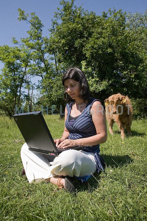 Nina Bhola (Kenia), Student Savannah Ecology op June 11, 2007 in Groningen, The Netherlands. (Photo by Michel de Groot)