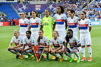Lyon squad during the UEFA Women's Champions League Final between Lyon Women and Paris Saint Germain Women at the Cardiff City Stadium, Cardiff, Wales on 1 June 2017. Photo by Giuseppe Maffia.<br /> Giuseppe Maffia/UK Sports Pics Ltd/Alterphotos