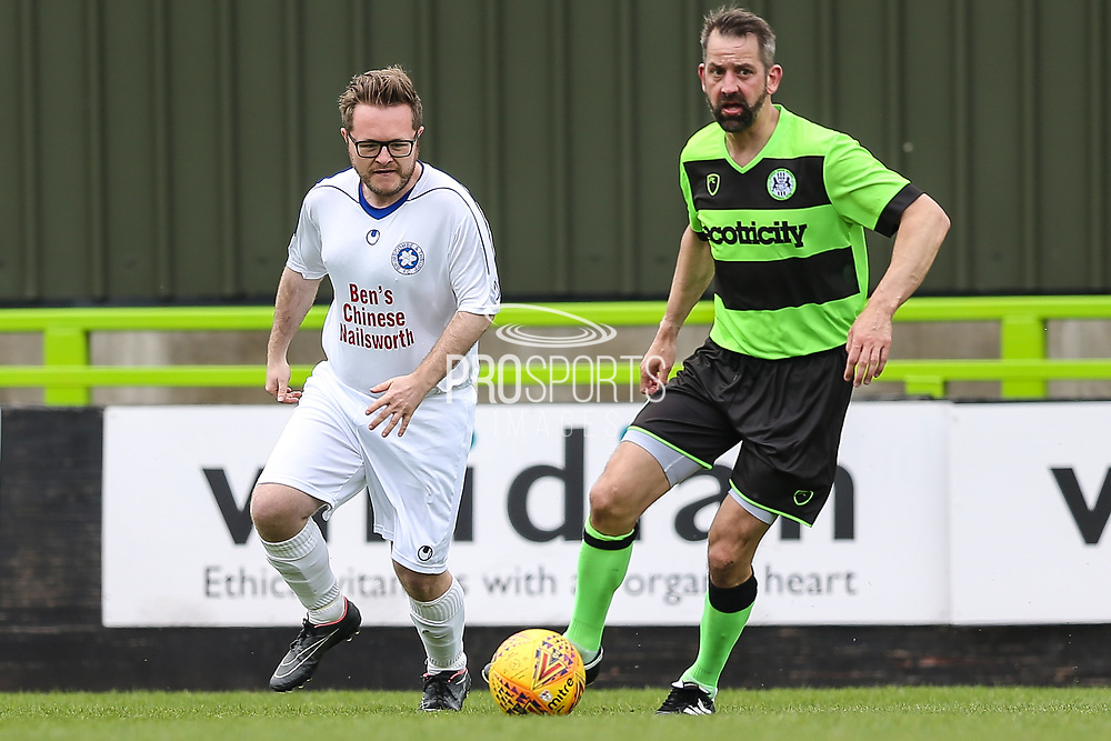 Forest Green Legends Jim Rollo and Trevor Horsley XI Jamie Ponting during the Trevor Horsley Memorial Match held at the New Lawn, Forest Green, United Kingdom on 19 May 2019.