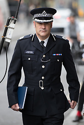 © Licensed to London News Pictures. 14/09/2017. London, UK. Metropolitan Police Commander Stuart Cundy arrives on the first day of the public inquiry into the Grenfell fire. Police say they believe 80 people died in the tragedy. Photo credit: Peter Macdiarmid/LNP