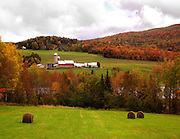 farm country, danville,vt in fall