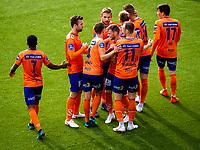 1. divisjon fotball 2018: Aalesund - Åsane (1-0). Aalesund feirer 1-0 scoringen til Torbjørn Agdestein i kampen i 1. divisjon i fotball mellom Aalesund og Åsane på Color Line Stadion.