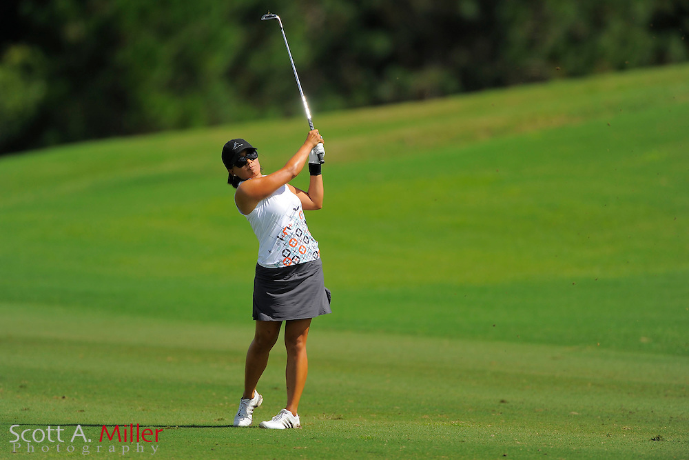 Jenny Suh during the rain-delayed third round of the Symetra Tour Championship at LPGA International on Sept. 29, 2013 in Daytona Beach, Florida. <br /> <br /> <br /> &copy;2013 Scott A. Miller