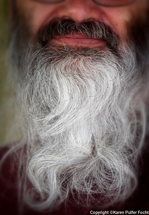 Jack Martin has a beautiful white beard.