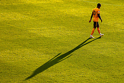 Helder Costa of Wolverhampton Wanderers casts a long shadow in the evening sunlight - Mandatory by-line: Robbie Stephenson/JMP - 25/07/2018 - FOOTBALL - Bet365 Stadium - Stoke-on-Trent, England - Stoke City v Wolverhampton Wanderers - Pre-season friendly