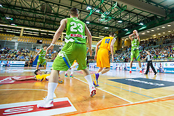 Mitja Nikolic f Slovenia during friendly basketball match between National teams of Slovenia and Ukraineat day 1 of Adecco Cup 2015, on August 21 in Koper, Slovenia. Photo by Grega Valancic / Sportida