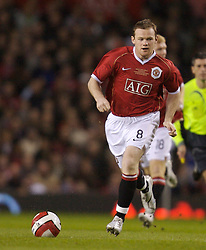 Manchester, England - Tuesday, March 13, 2007: Manchester United's Wayne Rooney in action against a Europe XI during the UEFA Celebration Match at Old Trafford. (Pic by David Rawcliffe/Propaganda)