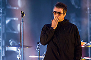 Liam Gallagher, fronting the Latitude secret act in a packked BBC arena and to a very happy crowd - The 2018 Latitude Festival, Henham Park. Suffolk 14 July 2018