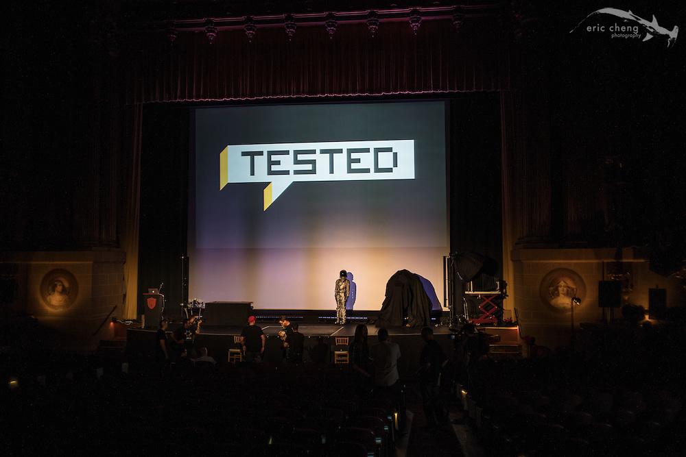 Tested.com live show, Oct 23, 2015, Castro Theater, San Francisco.