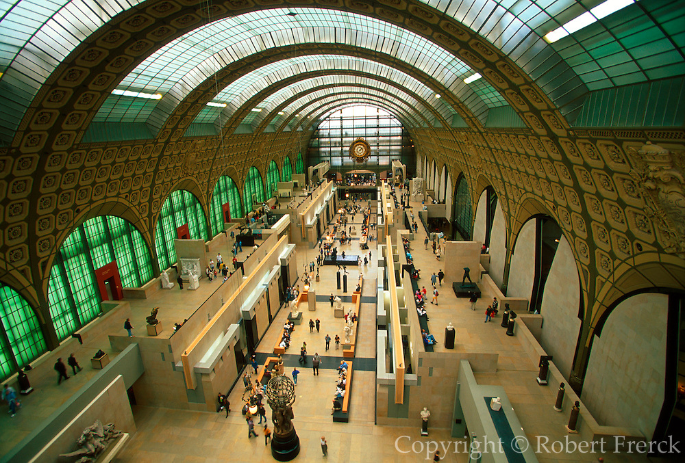 FRANCE, PARIS, CITY CENTER Musee d'Orsay, houses work of the Impressionists, ornate roof covers the multilevel exhibit areas