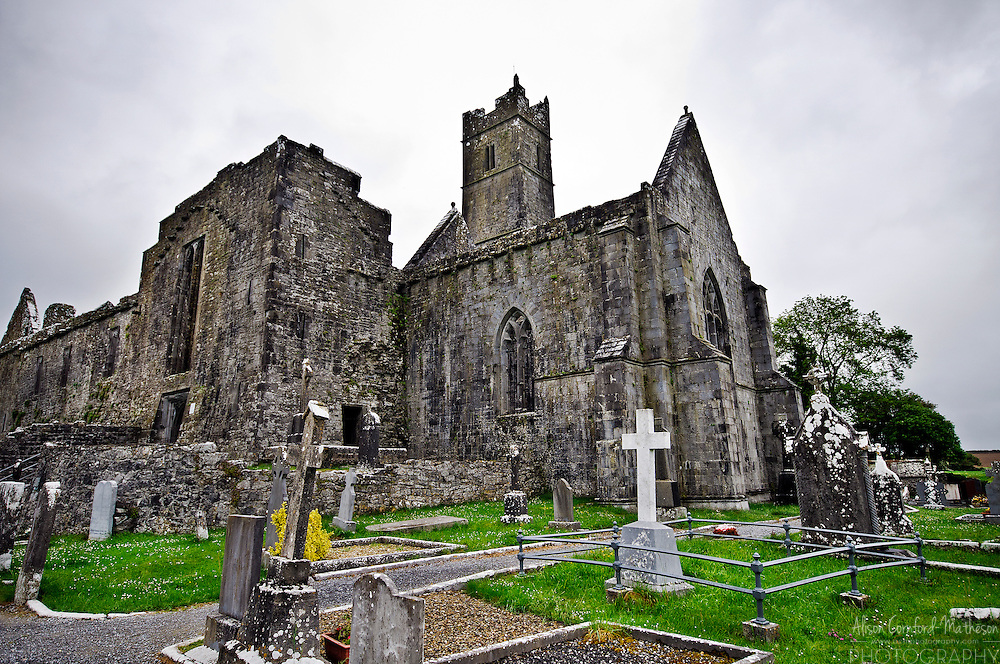 Quin Abbey, in County Clare, Ireland.