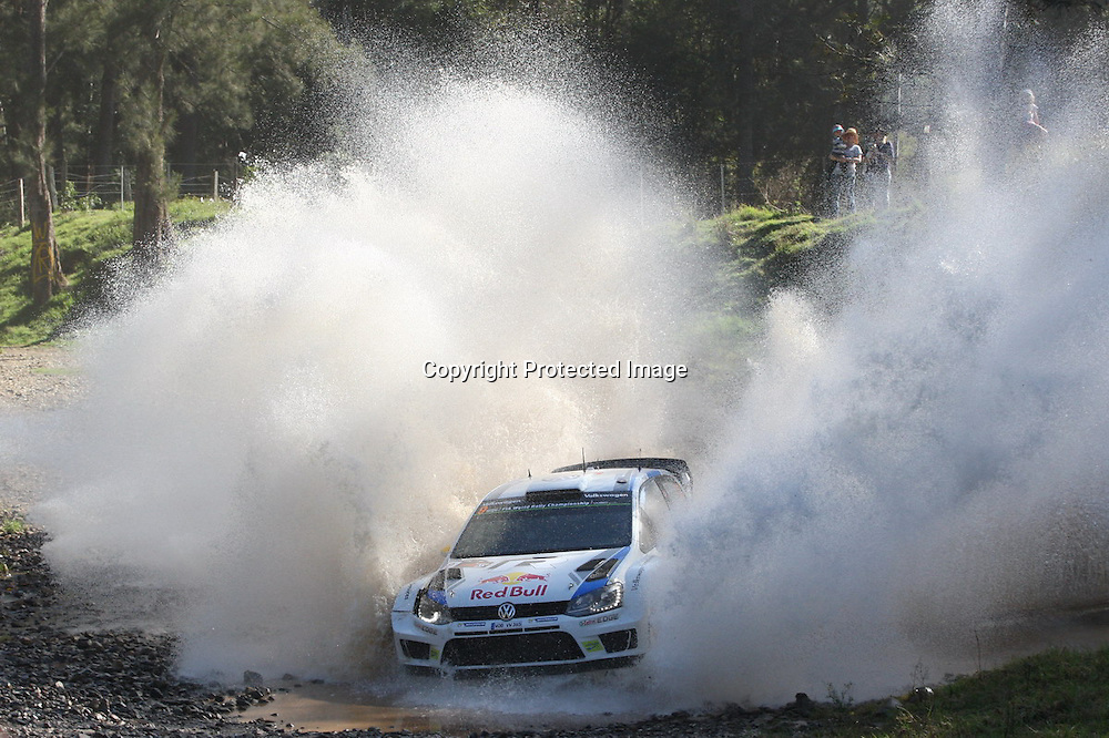 Andreas Mikkelsen (NOR) during Special Stage 15, Rally Australia - Round 10 of the FIA World Rally Championship, Day 3, 14 September 2014. Photo: Alan McDonald/www.photosport.co.nz