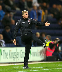 Bournemouth Manager, Eddie Howe gestures for his team to pass the ball - Mandatory byline: Matt McNulty/JMP - 07966386802 - 22/09/2015 - FOOTBALL - Deepdale Stadium -Preston,England - Preston North End v Bournemouth - Capital One Cup - Third Round