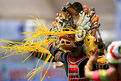 July 26, 2017 - Galle, Sri Lanka - A Sri Lankan traditional dancer performs during the opening ceremony  of 1st Test match between Sri Lanka and India at the Galle cricket stadium, Galle, Sri Lanka on Wednesday 26 July 2017. (Credit Image: © Tharaka Basnayaka/NurPhoto via ZUMA Press)