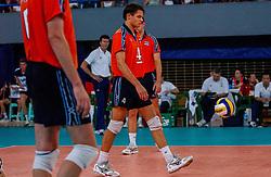 06-10-2002 ARG: World Champioships Netherlands - Brasil, Santa Fe<br /> Reinder Nummerdor / NEDERLAND - BRAZILIE 0-3<br /> WORLD CHAMPIONSHIP VOLLEYBALL 2002 ARGENTINA<br /> SANTA FE / 06-10-2002