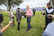 Former US President Bill Clinton at the annual barbeque party hosted by Iowa Senator Tom Harkins. Speculations ran high that Hillary Rodham Clinton would announce her candidacy for President 2016.