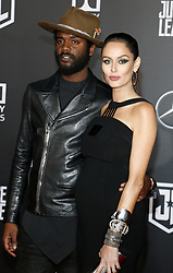 Gary Clark Jr. and Nicole Trunfio at the World premiere of 'Justice League' held at the Dolby Theatre in Hollywood, USA on November 13, 2017.