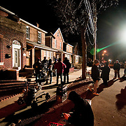 March 25, 2009 - Bronx, NY : Director David Manson and the rest of the cast and crew of the USA television serial, Law and Order Criminal Intent, could be spotted on Liebig Ave. in North Riverdale on Wednesday evening, where they were filming a segment for the 8th season of the show, which will air on April 19th.