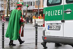 23.02.2017, Koeln, GER, Karneval, Weiberfastnacht, im Bild Polizeiwagen hinter dem Dom // during Women's Night of Cologne Carnival 2017. Koeln, Germany on 2017/02/23. EXPA Pictures © 2017, PhotoCredit: EXPA/ Eibner-Pressefoto/ Schueler<br /> <br /> *****ATTENTION - OUT of GER*****
