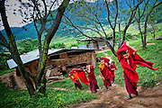 Bhutan, Chimi Lhakhang, Lama Kunley, Fertility, Monastery, Temple, monk, monks