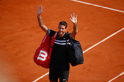 Juan Martin DEL POTRO (ARG) left the playground after lost the game against Rafael NADAL (ESP) during the Roland Garros French Tennis Open 2018, day 13, on June 8, 2018, at the Roland Garros Stadium in Paris, France - Photo Stephane Allaman / ProSportsImages / DPPI