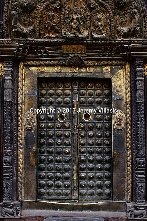 The beautiful doors to Patan Museum.