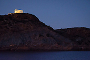 The Temple of Poseidon stands at the entry to the Aegean Sea at Cape Sounion, Greece.