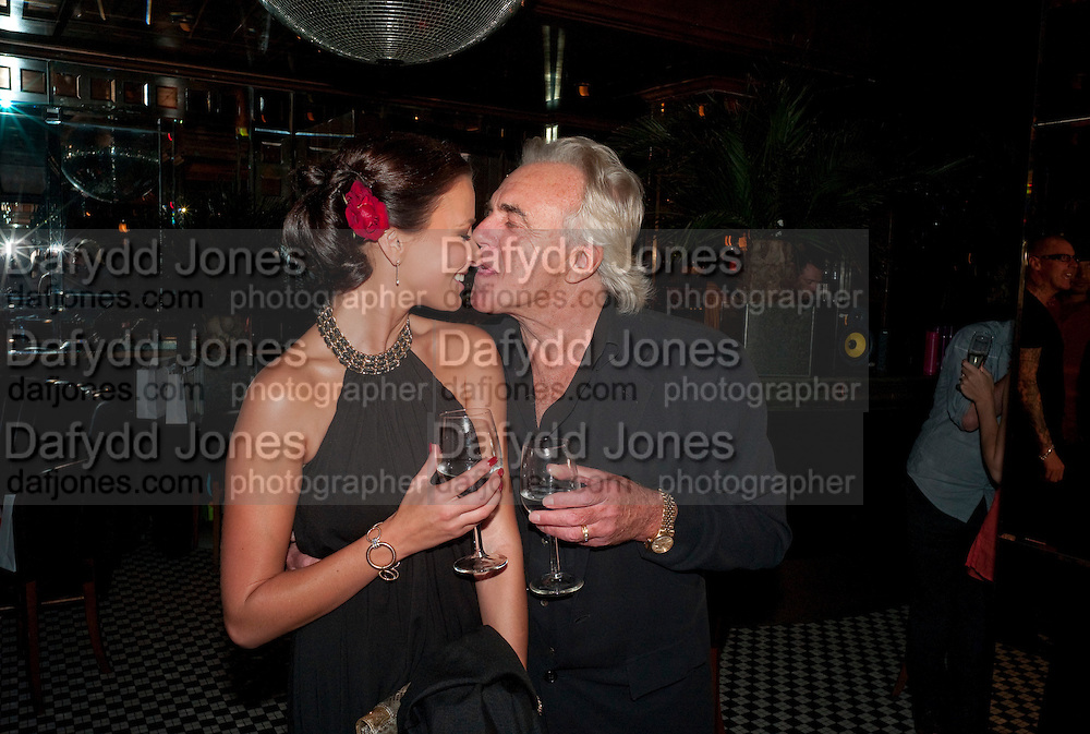 BELLA WRIGHT; PETER STRINGFELLOW; , launch of Adee Phelan's Fabulous Haircare Range, Frankie's Italian Bar and Grill, 3 Yeomans Row, off Brompton Road, London SW3, 7pm *** Local Caption *** -DO NOT ARCHIVE-&copy; Copyright Photograph by Dafydd Jones. 248 Clapham Rd. London SW9 0PZ. Tel 0207 820 0771. www.dafjones.com.<br /> BELLA WRIGHT; PETER STRINGFELLOW; , launch of Adee Phelan's Fabulous Haircare Range, Frankie's Italian Bar and Grill, 3 Yeomans Row, off Brompton Road, London SW3, 7pm