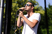 Photos of the band Holy Ghost! performing at The Great GoogaMooga festival at Prospect Park in Brooklyn, NY. May 19, 2012. Copyright © 2012 Matthew Eisman. All Rights Reserved.
