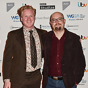 Ciaran Murtagh and Andrew Barnett Jones attends 2019 Writers' Guild Awards at Royal College of Physicians on 14 January 2019, London, UK