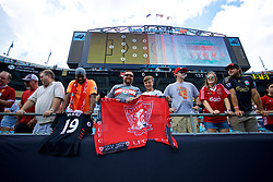 CHARLOTTE, USA - Sunday, July 22, 2018: Liverpool supporters before a preseason International Champions Cup match between Borussia Dortmund and Liverpool FC at the  Bank of America Stadium. (Pic by David Rawcliffe/Propaganda)
