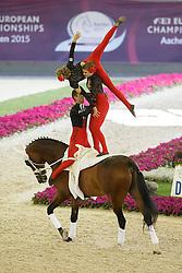 Spain Team, (ESP), Rubin Royal<br /> Female Squad Final Freestyle Test<br /> FEI European Championships - Aachen 2015<br /> © Hippo Foto - Dirk Caremans<br /> 23/08/15