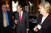 Michael Ancram, Andrew Marr and Polly Toynbee, Political Studies Association Awards 2004. Institute of Directors, Pall Mall. London SW1. 30 November 2004.  ONE TIME USE ONLY - DO NOT ARCHIVE  © Copyright Photograph by Dafydd Jones 66 Stockwell Park Rd. London SW9 0DA Tel 020 7733 0108 www.dafjones.com