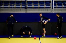 Jure Dolenec (3rd L) during practice of Slovenia Men Handball team 1 day before the beginning of 10th EHF European Handball Championship Serbia 2012, on January 14, 2012 in Vrsac, Serbia.  (Photo By Vid Ponikvar / Sportida.com)