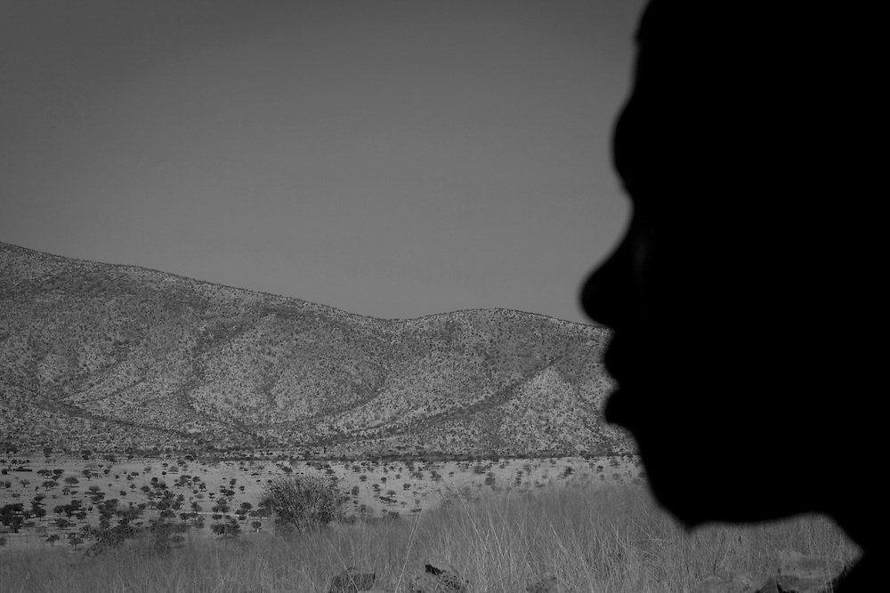 Profile of a Herero man in Namibia, Africa