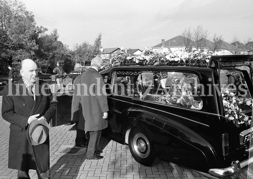 The Funeral Mass for Brian Lenihan at Our Lady's Church, Castleknock, Dublin, circa November 1995 (Part of the Independent Newspapers Ireland/NLI Collection).