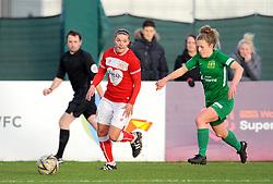 Emily Donovan of Yeovil Town Ladies chases down Loren Dykes of Bristol City- Mandatory by-line: Nizaam Jones/JMP - 27/01/2019 - FOOTBALL - Stoke Gifford Stadium - Bristol, England - Bristol City Women v Yeovil Town Ladies- FA Women's Super League 1