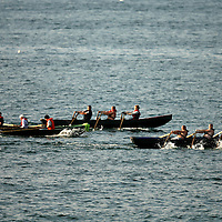 Currach racing as part of the Leon XIII festival in Quilty over the weekend<br />