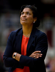 February 20, 2010; Stanford, CA, USA;  Oregon St. Beavers head coach LaVonda Wagner during the first half against the Stanford Cardinal at Maples Pavilion.  Stanford defeated Oregon State 82-48.