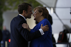 April 29, 2019 - Berlin, Berlin, Germany - 29.04.2019, Berlin, Germany ,Chancellor Angela Merkel  welcome the French President Emmanuel Macron.on the red carpet in the courtyard of the Federal Chancellery in Berlin to the Western Balkan summit. (Credit Image: © Simone Kuhlmey/Pacific Press via ZUMA Wire)