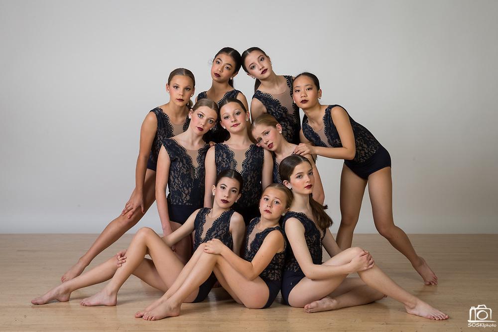 The Dance Company of Los Gatos competiton team poses for a portrait at The Dance Company of Los Gatos in Los Gatos, California, on April 17, 2017. (Stan Olszewski/SOSKIphoto)