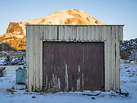 A old garage. Vestmannaeyjar islands, Iceland.