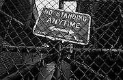 """Parking sign in Brooklyn..Part of long-term (2005-2008) story """"I See A Darkness"""". New York, NY."""